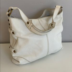 J Crew Collection White Leather Bag
